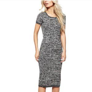 French Connection | Wool Cotton Fitted Midi Dress